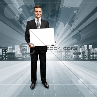 Business People against Conceptual Background