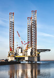 Offshore drilling rig in Esbjerg harbor, Denmark