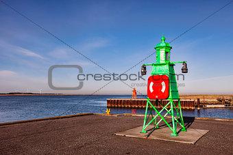 Lighthouse in Esbjerg Harbor, Denmark