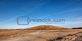 Light hill landmark in Esbjerg, Denmark