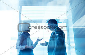 Business partners interacting