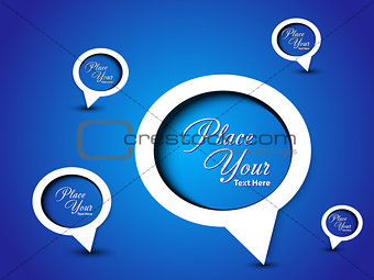 abstract blue chat background