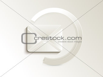 abstract mail  button
