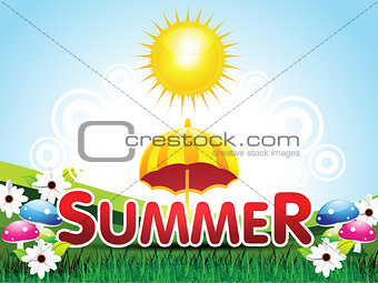 abstract summer background with flower