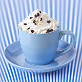 Coffee with whipped cream.