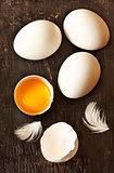 Organic eggs.