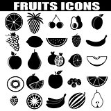 Fruits icons set