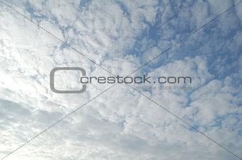 Beautiful White Clouds on the Blue Sky