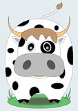 cute cow with black spots