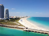 Beautiful View of South Beach Miami