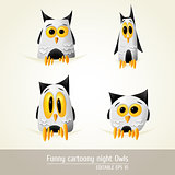 Funny Cartoony night owls