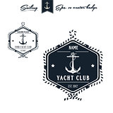 Vintage Retro Nautical Badge set