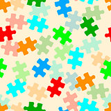 Beautiful  seamless wallpaper with jigsaw puzzle