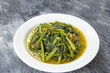 Spicy Kangkong Vegetables Stir Fry
