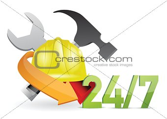 costumer service under construction sign