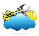 under construction cloud computing concept