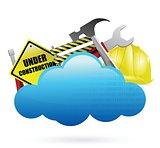 under construction cloud computing concept