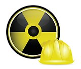 radioactive helmet protection sign