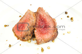 Grilled Sirloin with green pepper