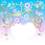 Spring pink easter frame