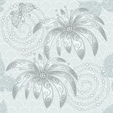 Vintage silvery seamless pattern