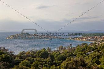 Adriatic town of Primosten peninsula