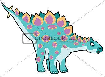 cartoon stegosaurus
