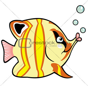 cartoon aquarium fish