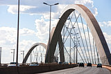 Juscelino Kubitschek bridge in brasilia brazil