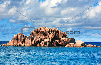 Granite rocks of saint pierre island