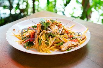 green mango salad in thailand