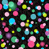 Seamless vivid pattern with balls