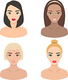 Set of girls icons