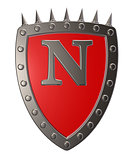 shield with letter n