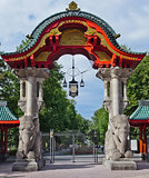 berlin zoo entrance gate germany