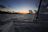 SUNSET ON THE SEA IN PRASLIN