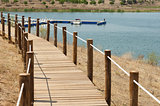 Wooden walkway