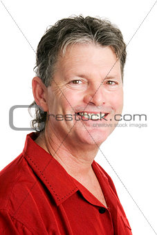 Portrait of Handsome Baby Boomer Man