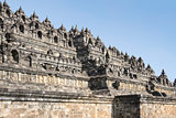 borobudur pyramid temple walls java