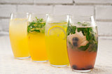 selection of fruits long drinks