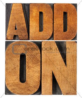 addon (add-on) in wood type