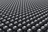 Black balls background