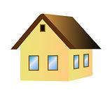 Vector house icon 3D
