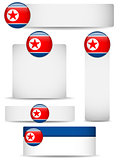 North Korea Country Set of Banners