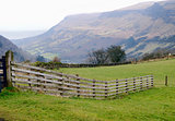 Mountain panorama of the Glenariff forest park