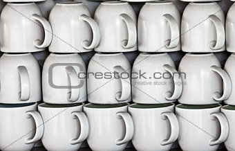 Ceramic cups on market stall
