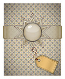 Retro background with ornament.