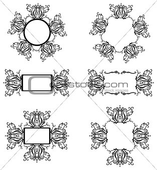 Frames with black pattern