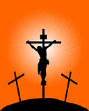 silhouette of a crucifix