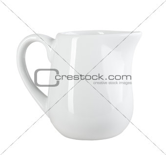 Clean single cream-pot
